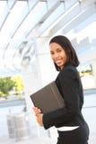 Donna graziosa di affari dell'afroamericano Immagine Stock