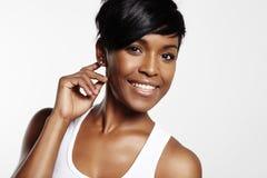 donna graziosa di afro Fotografia Stock
