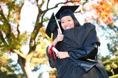 donna graziosa di graduazione asiatica Immagine Stock Libera da Diritti