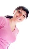 Donna graziosa di smiley Fotografia Stock