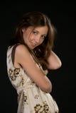 Donna graziosa di smiley Fotografia Stock Libera da Diritti