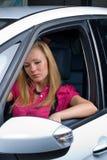 Donna graziosa - driver Immagini Stock
