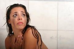 Donna gridante Fotografia Stock Libera da Diritti