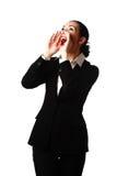Donna gridante di affari Immagini Stock Libere da Diritti