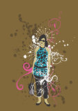 Donna Grungy illustrazione di stock
