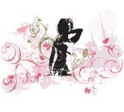 Donna Grungy royalty illustrazione gratis
