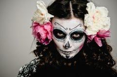 Donna guasto vivente di Halloween Fotografie Stock Libere da Diritti