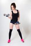 Donna impegnata nella forma fisica Fotografia Stock