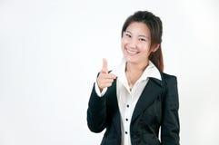 Donna impiegatizia asiatica Fotografia Stock Libera da Diritti