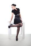 Donna/impiegato attraenti Fotografia Stock