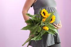Donna incinta. fotografia stock libera da diritti