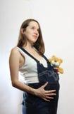 Donna incinta Fotografie Stock Libere da Diritti