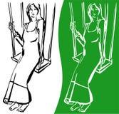 Donna incinta royalty illustrazione gratis