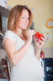 Donna incinta Immagini Stock