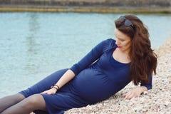 Donna incinta Immagine Stock