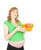 Donna incinta in buona salute Fotografie Stock Libere da Diritti