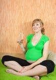 Donna incinta in buona salute Fotografia Stock Libera da Diritti