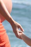 Donna incinta con il bambino Fotografia Stock