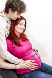 Donna incinta con il suo marito Fotografia Stock Libera da Diritti