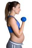 Donna incinta di allenamento Fotografia Stock