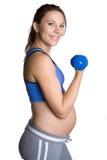 Donna incinta di allenamento Immagini Stock Libere da Diritti