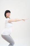 Donna incinta di forma fisica Fotografia Stock