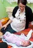 Donna incinta e neonata Fotografia Stock