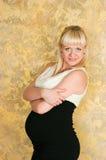 Donna incinta elegante Immagini Stock Libere da Diritti