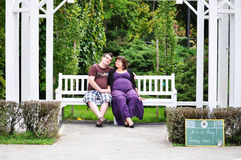 Donna incinta felice Immagini Stock