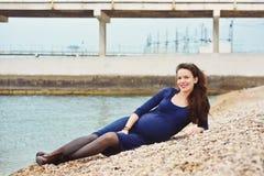 Donna incinta felice Fotografie Stock