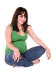 Donna incinta graziosa. Immagine Stock