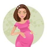 Donna incinta Illustrazione di vettore Illustrazione di Stock