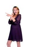 Donna incinta isolata Fotografia Stock Libera da Diritti