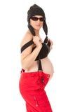 Donna incinta sexy Immagini Stock Libere da Diritti
