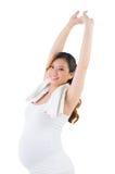 Donna incinta sportiva Fotografie Stock