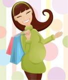 Donna incinta sveglia illustrazione vettoriale