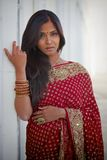 Donna indiana afosa Fotografia Stock