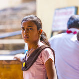 Donna indiana al festival annuale di Navrata Immagine Stock Libera da Diritti