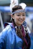 Donna indiana americana a distorsione di velocità del prigioniero di guerra del UCLA Immagine Stock