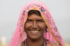Donna indiana del mendicante in Pushkar, India Immagini Stock Libere da Diritti