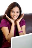 Donna indiana emozionante Fotografia Stock