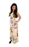 Donna indiana esile che sta in vestito Fotografia Stock