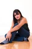 Donna indiana Relaxed Fotografia Stock Libera da Diritti