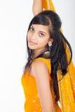 Donna indiana in sari Fotografia Stock Libera da Diritti