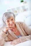 Donna invecchiata Fotografie Stock