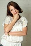 Donna invecchiata bello mezzo Fotografie Stock Libere da Diritti