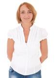 Donna invecchiata centrale casuale Fotografia Stock Libera da Diritti