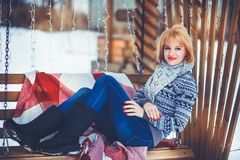 Donna in inverno Immagine Stock