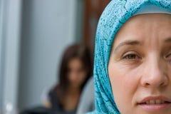 Donna islamica musulmana Fotografia Stock