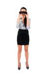 Donna isolata di affari Immagine Stock